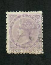 NEW ZEALAND 1874 Victoria 1st First Sideface 1d Lilac. - 10019 - VFU