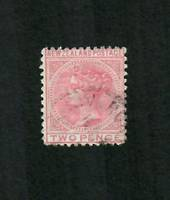 NEW ZEALAND 1874 Victoria 1st First Sideface 2d Red. - 10020 - FU