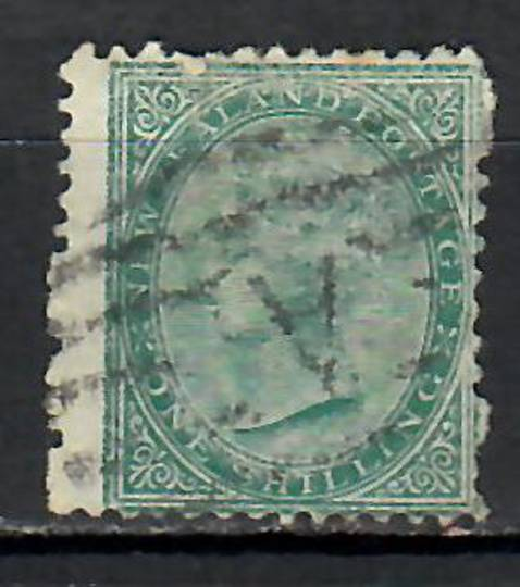NEW ZEALAND 1874 Victoria 1st First Sideface 1/- Green. - 10024 - FU
