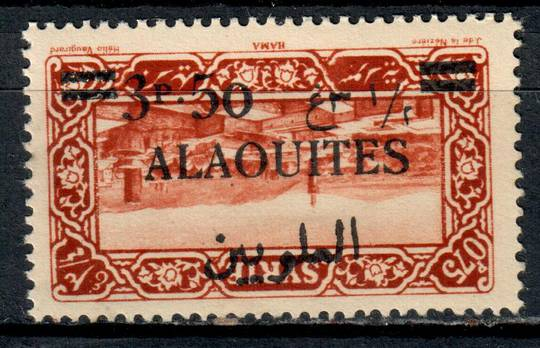 ALAOUITES 1926 Definitive 3p50 on 0p75 Brown-Red. Surcharge inverted. - 11008 - Mint