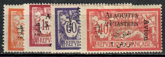 ALAOUITES 1925 Air. Stamps of France surchrged. Set of 4. - 11012 - Mint