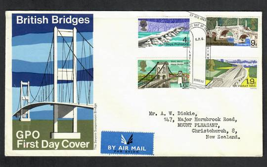 GREAT BRITAIN 1968 Bridges. Set of 4 on first day cover. - 130327 - FDC