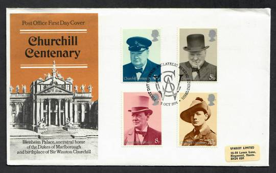 GREAT BRITAIN 1974 Centenary of the Birth of Sir Winston Churchill. Set of 4 on first day cover. - 131794 - FDC