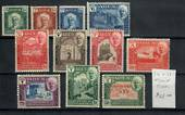 ADEN HADHRAMAUT 1942 Definitives. Set of 11. - 20045 - LHM