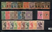 DAHOMEY Selection of Postage Dues 1906 to 1941. includes SG D33- D40, set of 8. Mainly VFU and MNG. - 20081 - Mixed