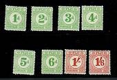 FIJI 1940 Postage Due. Set of 8. Most values mint never hinged including the two high values. - 20204 - UHM