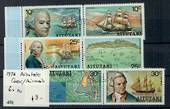 AITUTAKI 1974 Discovery of Aitutaki by William Bligh. First series. Set of 6 in joined pairs.