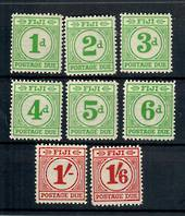 FIJI 1940 Postage Due. Set of 8. - 20435 - LHM