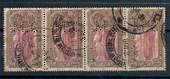 INDIA 1931 Inaugueration of New Delhi 1a. Strip of 4 with Perfin M C . - 20457 - Used