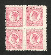 NEW ZEALAND 1873 ½d Newspaper Stamp. Perf 12½. Block of 4. - 20663 - UHM