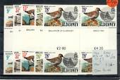 ALDERNEY 1984 Birds. Set of 5 in Gutter Pairs. - 20823 - UHM