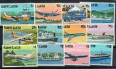 ST LUCIA 1980 Transport. Set of 12. - 20999 - UHM