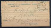 NEW ZEALAND 1890 Receipt for Registered Letter. A Class cancel NEW PLYMOUTH. - 21021 - PostalHist