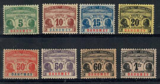 DAHOMEY 1906 Postage Due. Set of 8. A gum thin on the 60c but still a nice clean set. - 21499 - Mint