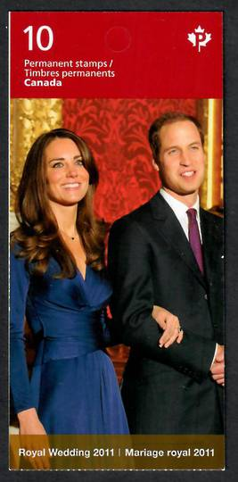 CANADA 2011 Royal Wedding. First series. Booklet.  P ($5.90). - 21920 - UHM
