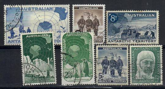 AUSTRALIAN ANTARCTIC TERRITORY 1957-1961 The first issues of the territory. The first five all have fine corner cancels and the