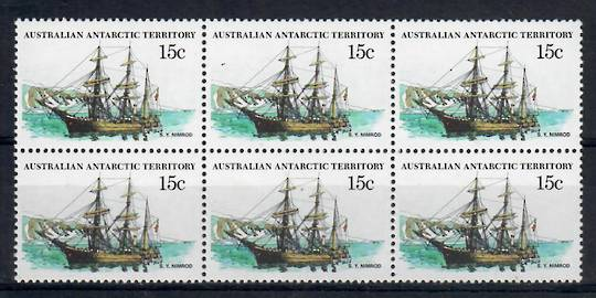 AUSTRALIAN ANTARCTIC TERRITORY 1979 Definitive 15c Morning (wrongly described as Nimrod) (the bow view). Usually missing from th