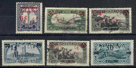 ALAOUITIES 1926 Definitives. Stamps of Syria surcharged. Set of 6. - 22305 - Mint