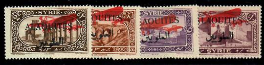 ALAOUITIES 1926 Air. Stamps of Syria overprinted. Set of 4. - 22369 - Mint