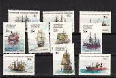 AUSTRALIAN ANTARCTIC TERRITORY 1979 Ships. Part set of 10. The two high values and the more expensive 15c are there. Missing are