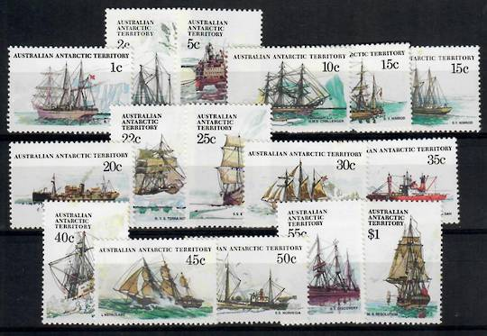 AUSTRALIAN ANTARCTIC TERRITORY 1979 Ships Definitives. Set of 16. - 23529 - UHM