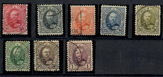 LUXEMBOURG 1891 Definitives. Eight values. Perf 11½x11. - 23732 - Used