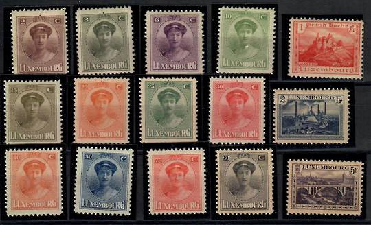 LUXEMBOURG 1921 Definitives. Set of 15. - 23736 - Mint