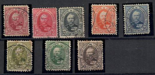 LUXEMBOURG 1891 Set to the 50c in Perf 11. - 23740 - Used