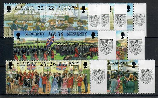 ALDERNEY 2001 Garrison Island Part 4 and 5. Set of 16 in joined pairs. - 24003 - UHM