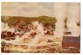 Coloured postcard by R G Marsh of Whakarewarewa the Native Village. - 245912 - Postcard