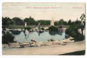 Coloured Postcard by Muir & Moodie of Sanatorium Grounds Rotorua. - 246054 - Postcard