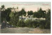 Coloured Postcard by Muir & Moodie of Sanatorium Grounds Rotorua. - 246065 - Postcard