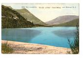 Coloured Postcard by Muir & Moodie of Blue Lake Tikitapu. - 246069 - Postcard