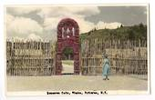 Coloured Real Photograph by N S Seaward of Reserve Gate Whakarewarewa Rotorua. - 246117 - Postcard