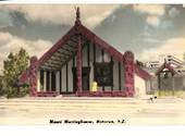 Coloured Real Photograph by N S Seaward of Maori Meetinghouse Rotorua. - 246123 - Postcard