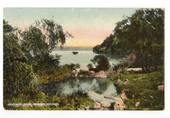Coloured Postcard by Blencowe of Hinemoa Bath Mokoia Island. - 246141 - Postcard