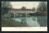 Coloured postcard by Muir and Moodie of Bridge over the Heathcote River. - 248363 - Postcard