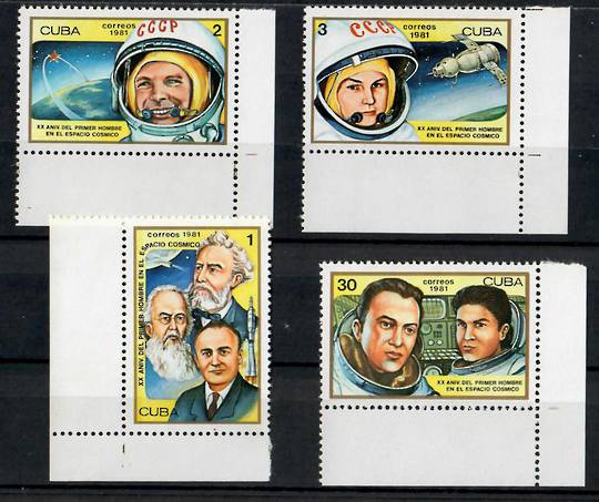 CUBA 1981 20th Anniversary of the First Man in Space. Set of 4. - 24906 - UHM