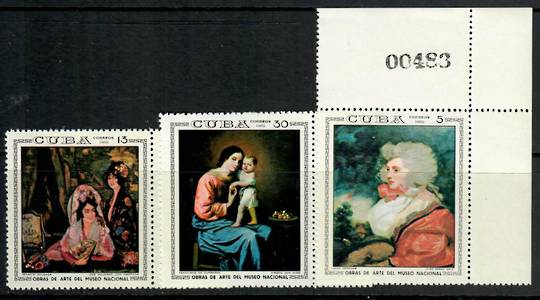 CUBA 1969 National Museum Paintings. Second series. Set of 7. - 24910 - UHM