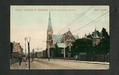 Coloured postcard by Muir and Moodie of George Street Dunedin. - 249126 - Postcard