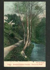 Coloured postcard by Muir and Moodie of Lovers' Walk Botannical Gardens Dunedin. - 249133 - Postcard