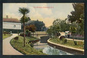 Coloured postcard by Muir and Moodie of The Gardens Invercargill. - 249304 - Postcard