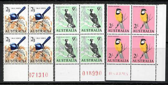AUSTRALIA 1964 Definitives. Set of 7 in blocks of 4. - 25810 - UHM