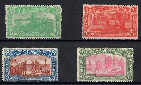 NEW ZEALAND 1906 Christchurch Exhibition. Set of 4. - 26062 - UHM