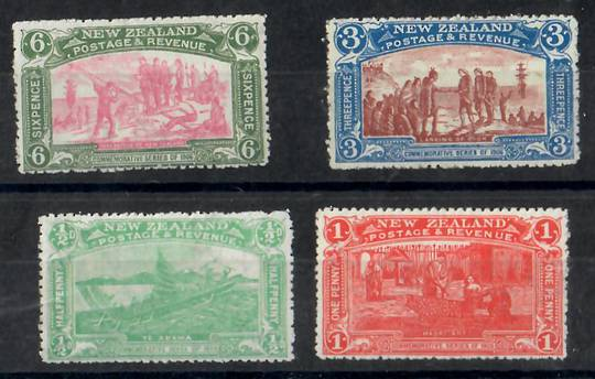 NEW ZEALAND 1906 Christchurch Exhibition. Set of 4. - 26070 - LHM