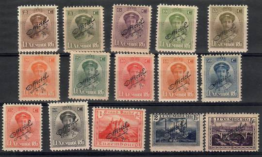 LUXEMBOURG 1922 Official. Overprints in black. Set of 15. - 26232 - Mint