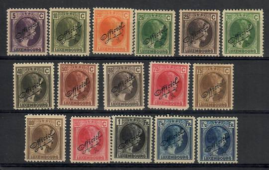 LUXEMBOURG 1926 Official. Set of 16. - 26236 - Mint