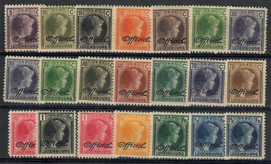 LUXEMBOURG 1928 Official. Set of 21. - 26237 - Mint