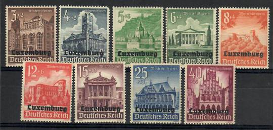 LUXEMBOURG 1941 German Winter Relief Fund. Set of 9. - 26239 - Mint