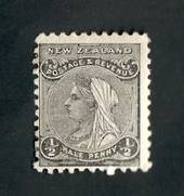 NEW ZEALAND 1882 Victoria 1st Definitive ½d Black. - 27 - Mint